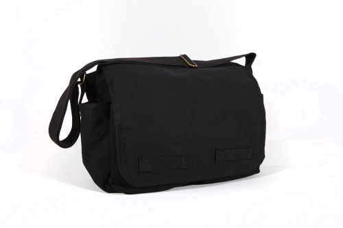 GT® Heavyweight Canvas Messenger Bag - (Black or Olive) - Gravity ...