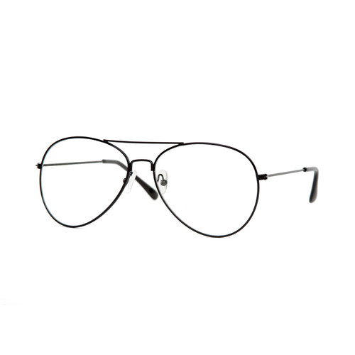 Black Frame Clear Lens Aviator QL