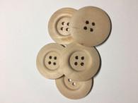 Large Plain Wooden Buttons