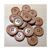 Wooden Buttons Sandy Brown