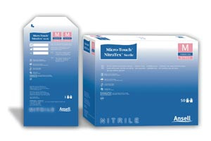 Ansell Micro-Touch Nitra-Tex Sterile Exam Gloves Singles Extended Length