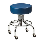 Chrome Base Stool with Round Footring