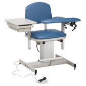 Clinton Blood Drawing Chair Padded Arms Drawer Power Series 6342