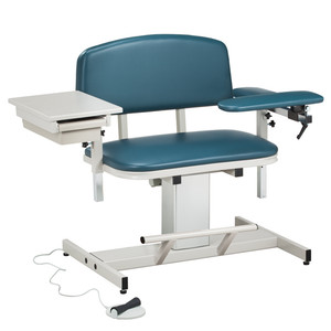 Blood Drawing Chair Padded Arms Power Series Extra-Wide