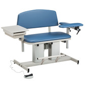 Clinton Bariatric Blood Drawing Chair Padded Arm Drawer Power Series 6362