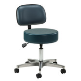 Clinton 5-Leg Pneumatic Stool with Wheels and Backrest 2155-21