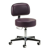Clinton 5-Leg Pneumatic Stool with Height Lever and Backrest 2156-21