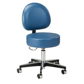 Clinton 5-Leg Pneumatic Stool Height Lever and D-Shaped Backrest 2156-31