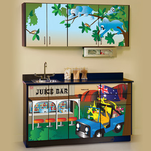 Clinton Pediatric Exam Room Cabinets Kangaroo Country 6153 BW