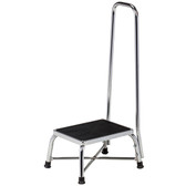 Clinton Bariatric Step Stool with Handrail Chrome T-6150