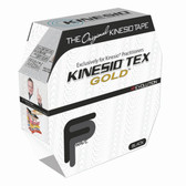 "Kinesio Tape Tex Gold FP 2"" x 34 Yards Black Bulk GKT45125"