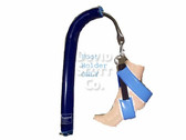 David Scott Candy Cane Gel Foot Straps for Candy Cane Stirrups Blue Diamond Gel BD2335