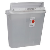 Covidien Kendall SharpSafety In Room Sharps Containers with Counter Balanced Lid 8540SA 4 Gallons Clear
