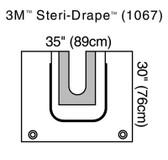 """3M Steri-Drape U-Drape with U-Pouch 30""""x35"""" 1067"""