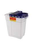 BD Pharmaceutical Sharps Container 9 Gallon Hinge Top w/ Gasket 305634