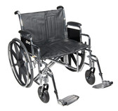 "Drive Medical Bariatric Sentra EC Heavy Duty Wheelchair 24"" Seat STD24ECDDA-ELR"