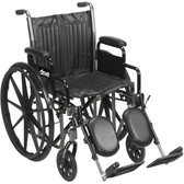 "Drive Medical Silver Sport 2 Wheelchair 18"" Seat Swing-Away Footrests SSP218FA-SF"