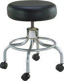 Drive Medical Wheeled Round Stool with Round Footrest 13034