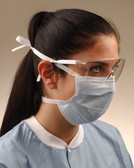 Crosstex Surgical Mask Tie-On Blue GCS
