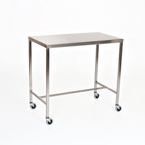 Instrument Table with H-Brace-Stainless Steel