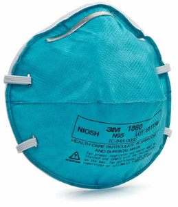 3M Particulate Respirator and Surgical Mask 1860