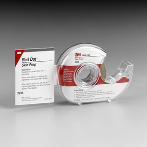 3M Red Dot Trace Prep Electrode Skin Prep 2236 Roll with Dispenser