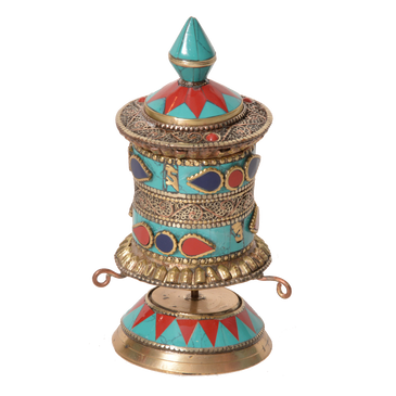 Turquise corol Prayer Wheel