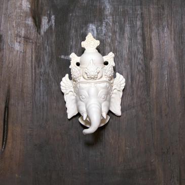 Ganesha - White Resin Mask