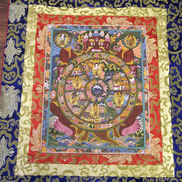 Wheel of Life Mandala Thangka