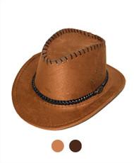 "6pc Pack 2.5"" Brim Cowboy Hat H9352"