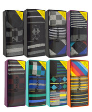 24pre-pack assorted 3 pair men's multi colored socks MFS1000