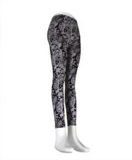 12pcs Ladies Footless Printed Leggings- L9054