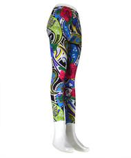 12pcs Ladies Footless Printed Leggings L9142