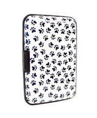 12pc Pack Card Guard Aluminum Compact Card Holder CASE027 (Animal Paws)