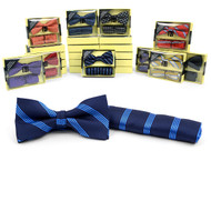 24pc Pack Assorted Bow Tie & Matching Hanky BTHB1000