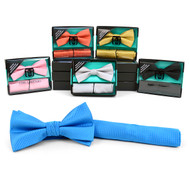 12pc Pack Assorted Men's Bow Tie & Matching Hanky BTHB2000