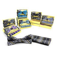 12pc Pack Assorted Bow Tie & Matching Hanky BTHB3000
