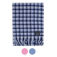 BG Checker Soft Warm Unisex 100% Wool Scarf HWS5002