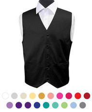 Men's Poly Solid Satin Vest PSV3501