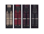 Assorted Clip Suspenders 12 pc pre-pack ACS3701