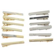 12pc Assorted Tie Bars TB1301-C