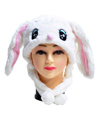 6pc Pre-Pack Animal Fleece Hats - Bunny HATCW111392
