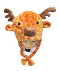 6pc Pre-Pack Animal Plush Hat - Giraffe HATC1120
