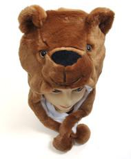 6pc Pre-Pack Animal Plush Hat - Brown Bear HATC1080