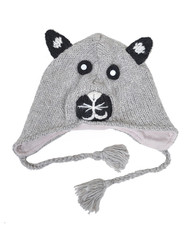 Wool Animal Hats Gray Bear - AHW200