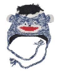 Wool Animal Hats Blue Monkey - AHW900