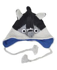 Wool Animal Hats Raccoon Blue - AHW1400