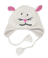 Wool Animal Hats Mouse White - AHW1600
