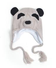 Knit Ivory Panda Animal Hats - AHN011102