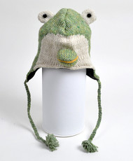 Wool Animal Hats Frog Light - AHW024